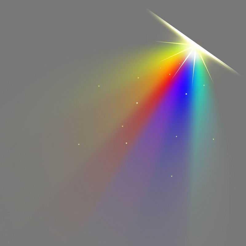 七彩虹色全息发光效果绚丽光线照射效果4809059免抠图片素材