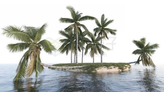 小岛上的椰树林大海上的海岛风景5247711免抠图片素材免费下载