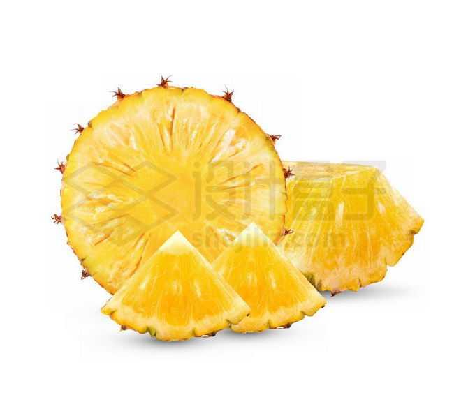 切开的菠萝美味水果6136170免抠图片素材免费下载
