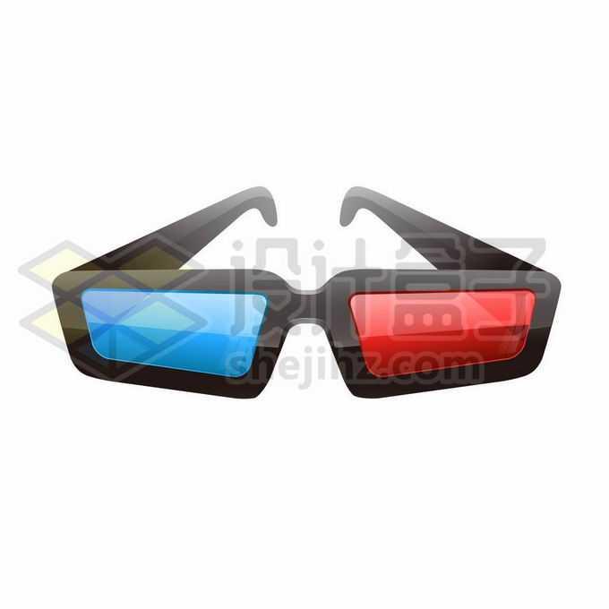 红蓝眼镜3D立体眼镜电影院观影眼镜3343018矢量图片免抠素材免费下载
