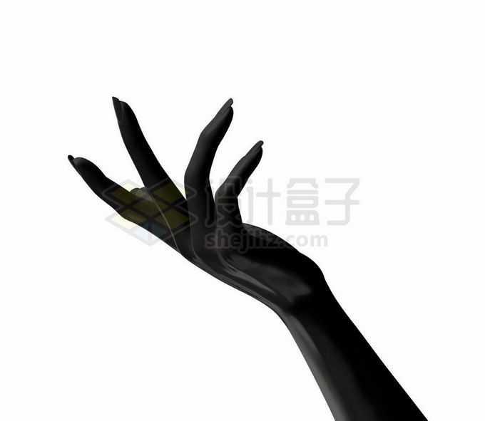 优雅的3D黑色手势模型8157673矢量图片免抠素材