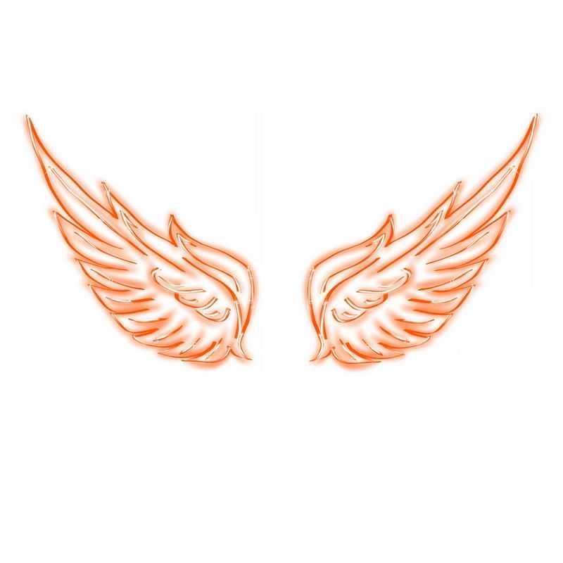 红色发光线条翅膀6842100免抠图片素材