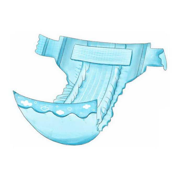 蓝色的卡通尿不湿尿布5363200免抠图片素材
