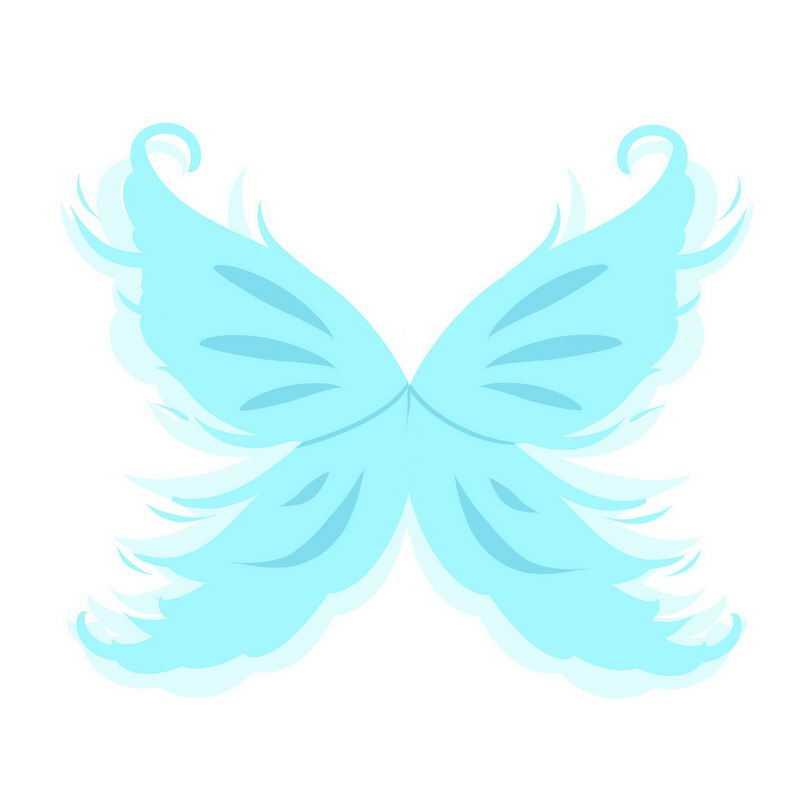 天蓝色蝴蝶翅膀装饰3922410免抠图片素材