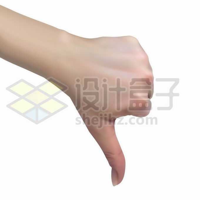 伸出的大拇指朝下的手势表示对别人的鄙视和不赞同5486964矢量图片免抠素材免费下载