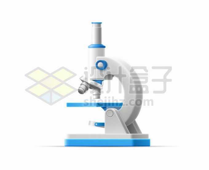 蓝色白色配色的光学显微镜6944953矢量图片免抠素材免费下载