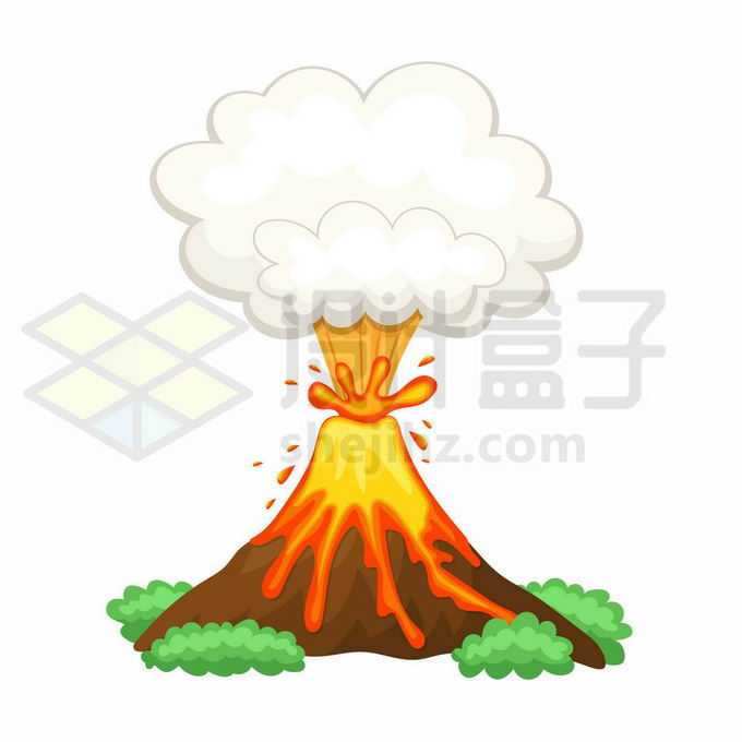 正在喷发的卡通火山爆发岩浆火山5057864矢量图片免抠素材