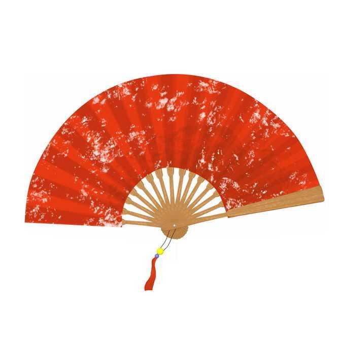 大红色中国风折扇子4291218免抠图片素材