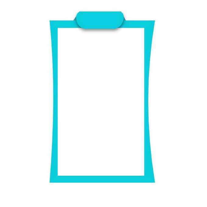 简约风格蓝色线条边框文本框信息框6247939免抠图片素材