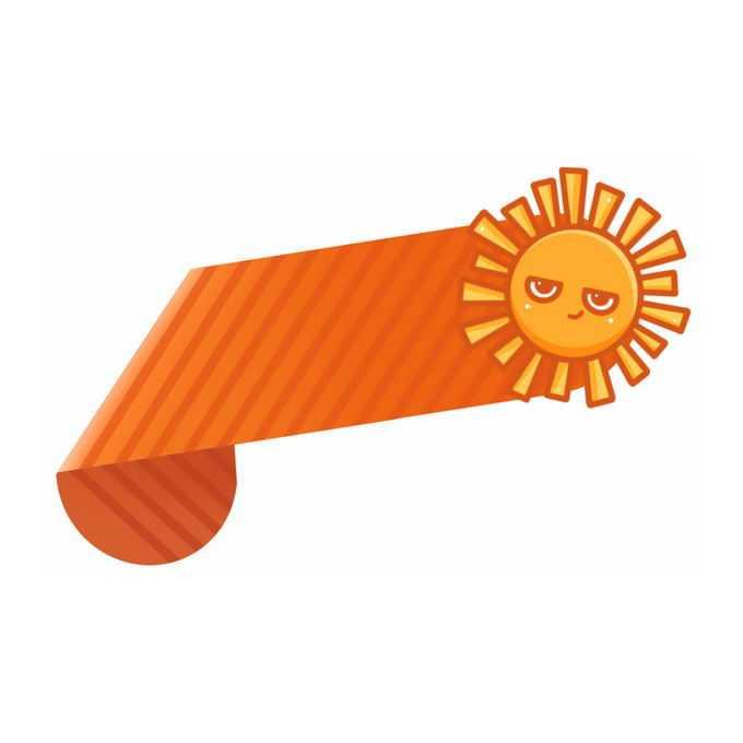 卡通太阳和折纸风格标题框文本框信息框1493961免抠图片素材