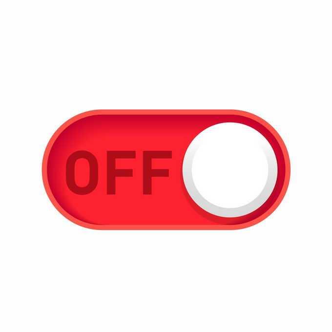 红色的开关切换按钮的关闭按钮1692430矢量图片免抠素材免费下载
