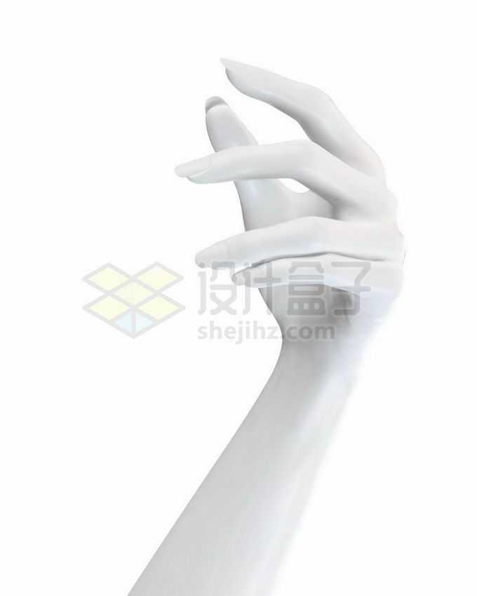 优雅的3D白色手势模型9070203矢量图片免抠素材