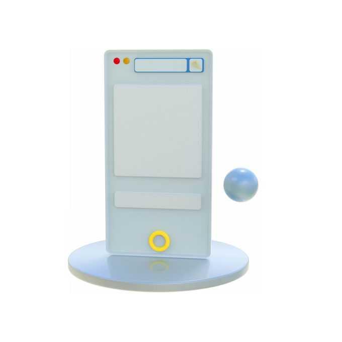 3D立体风格圆盘上的手机模型7154411免抠图片素材