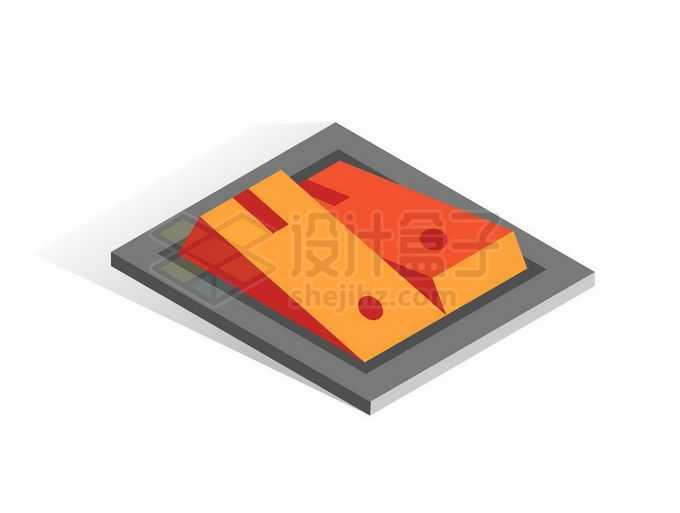 2.5D风格按钮式开关按钮2681799矢量图片免抠素材