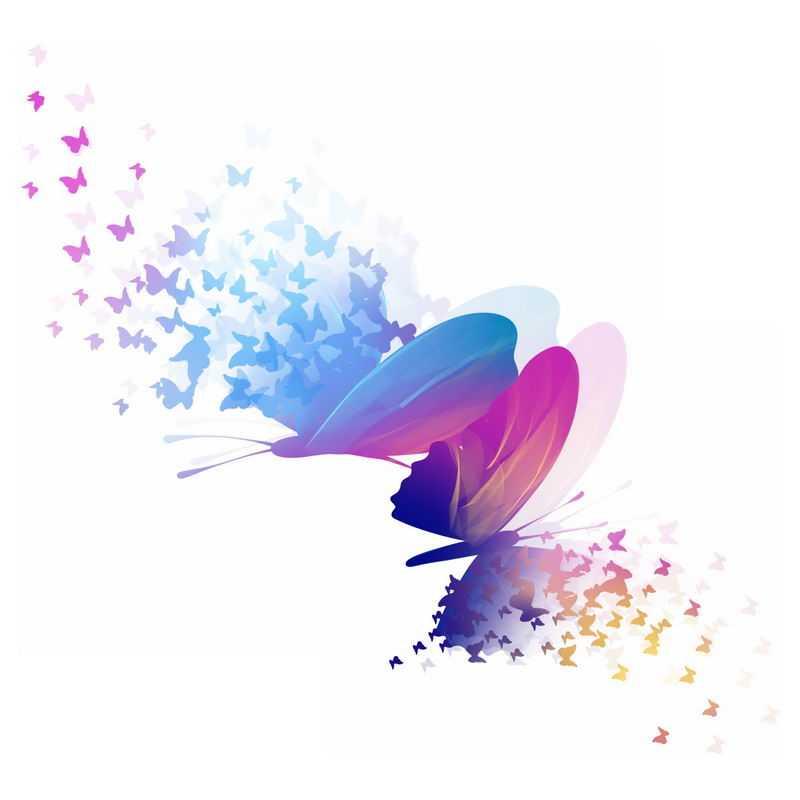 抽象风格的绚丽蝴蝶图案6207322免抠图片素材