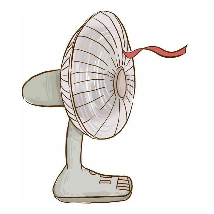 一台正在吹风的卡通电风扇台扇7928516png免抠图片素材