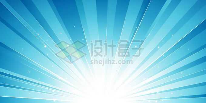 白色光芒风格蓝色放射线背景图7620526矢量图片免抠素材免费下载