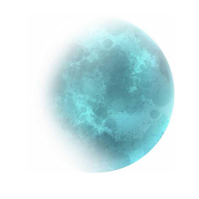 半透明风格的蓝色月球7095113免抠图片素材