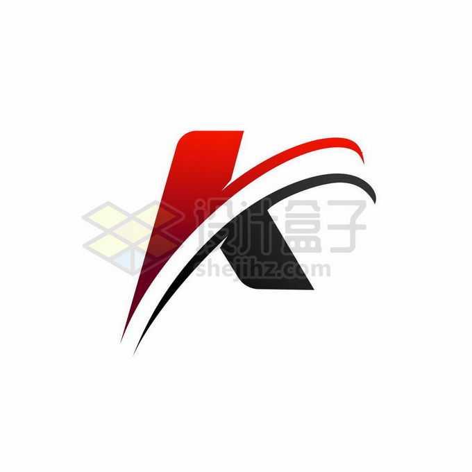 红色黑色创意大写字母K标志logo设计1465084矢量图片免抠素材