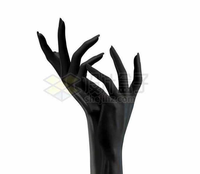 优雅的3D黑色手势模型7327360矢量图片免抠素材