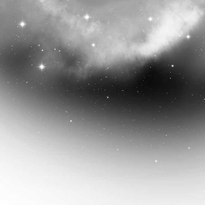 黑白色的星云星空和繁星点点装饰效果5474634矢量图片免抠素材