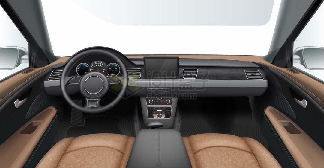 汽车内部第一人称视角车内视角车窗视野效果4898415矢量图片免抠素材
