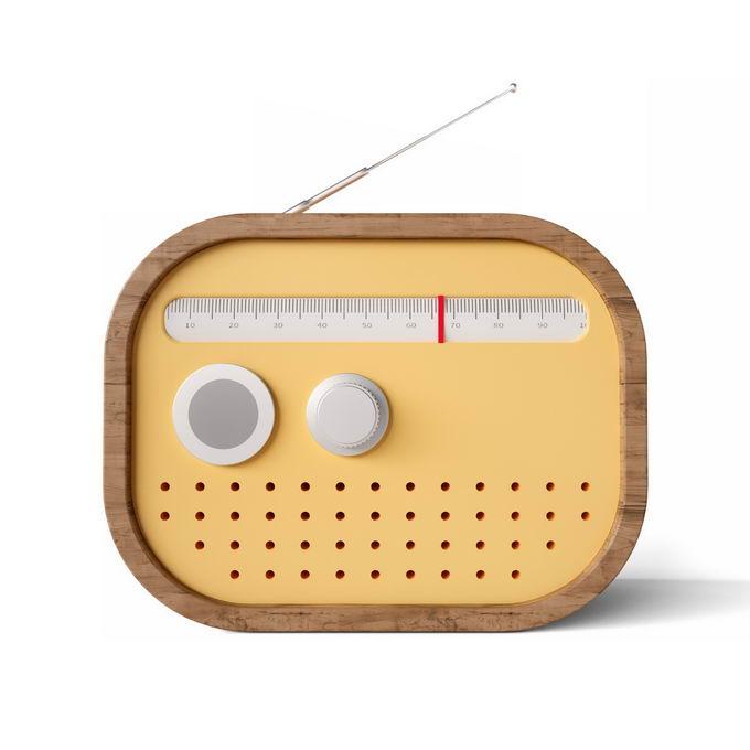 3D立体风格黄色的卡通收音机3255467矢量图片免抠素材 IT科技-第1张