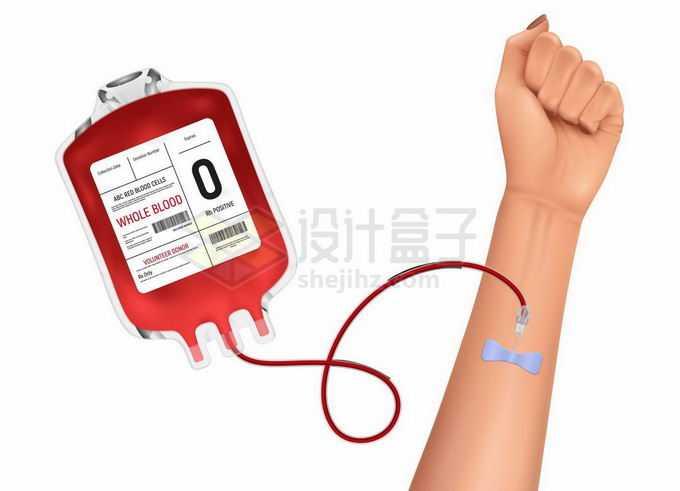 一只手正在接受血袋输血治疗8677358矢量图片免抠素材