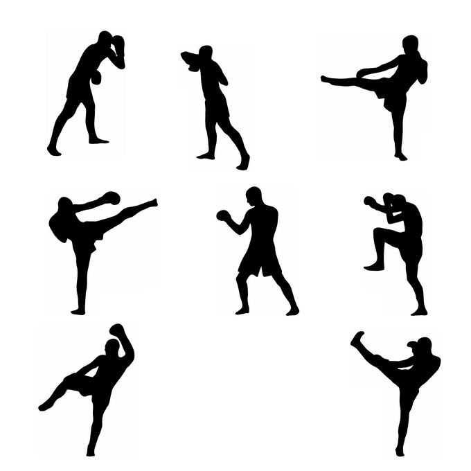 8款拳击运动员奥运会人物剪影4970314免抠图片素材