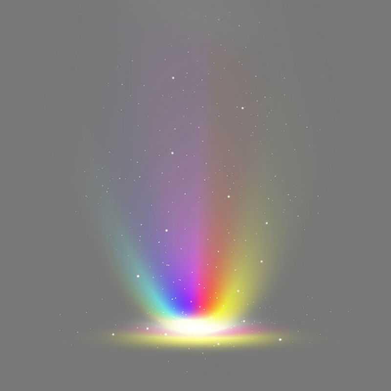 七彩虹色全息发光效果绚丽光线6361049免抠图片素材
