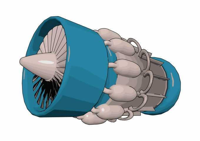 一个蓝色的航空发动机涡扇发动机大型客机使用5984477矢量图片免抠素材免费下载