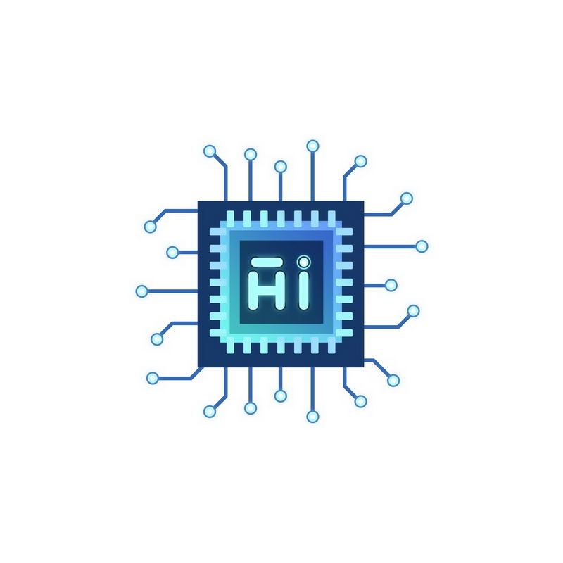 蓝色科技风格人工智能技术芯片处理器5794246免抠图片素材 IT科技-第1张