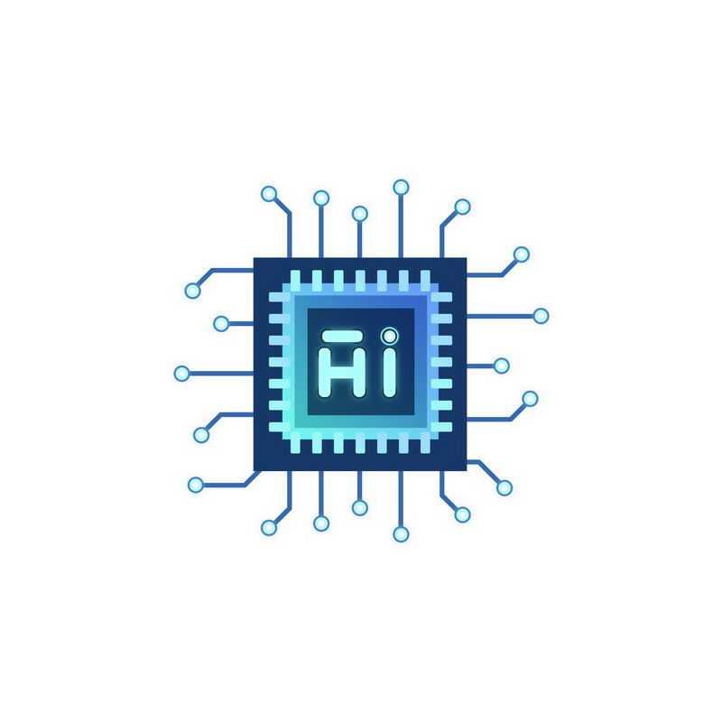 蓝色科技风格人工智能技术芯片处理器5794246免抠图片素材
