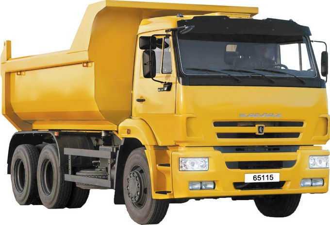 一辆黄色的装卸卡车泥头车6659832png免抠图片素材