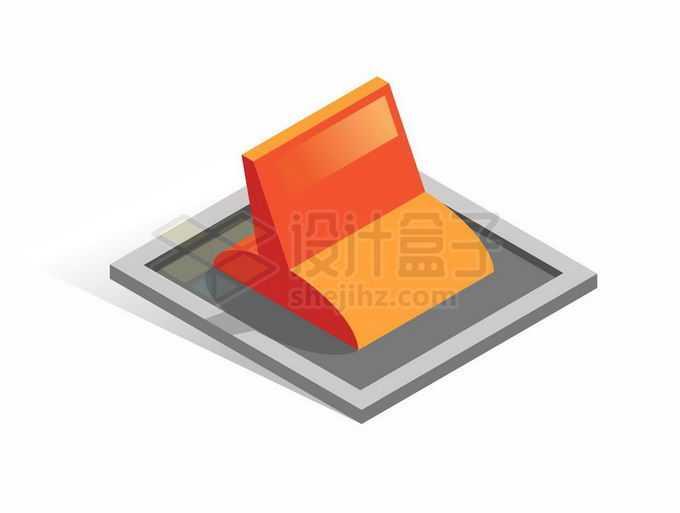 2.5D风格拨动开关按钮5895666矢量图片免抠素材