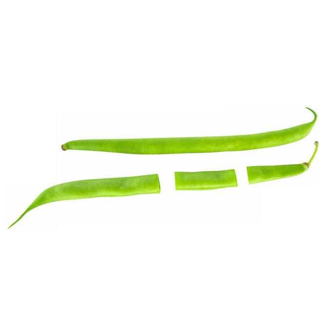 一根完整的刀豆和切成段的绿豆荚美味蔬菜9375356矢量图片免抠素材