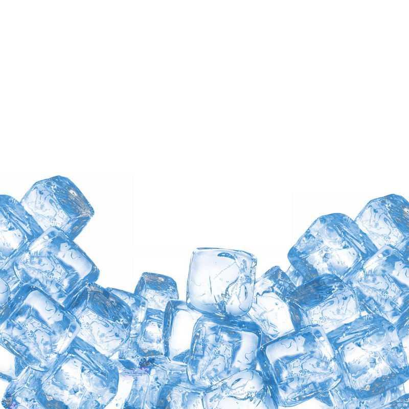 一大堆蓝色的方形冰块2288018免抠图片素材
