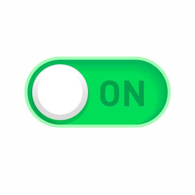 绿色的开关切换按钮的打开按钮1830719矢量图片免抠素材免费下载