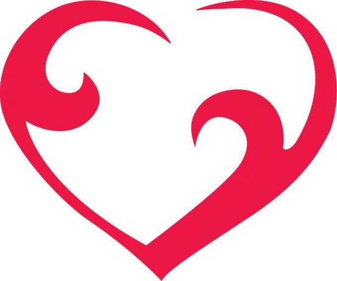 红色线条组成的空心心形红心图案5422170png免抠图片素材