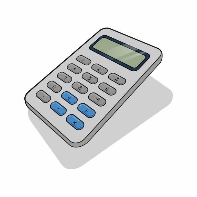 一款灰色的卡通风格计算器1462936矢量图片免抠素材