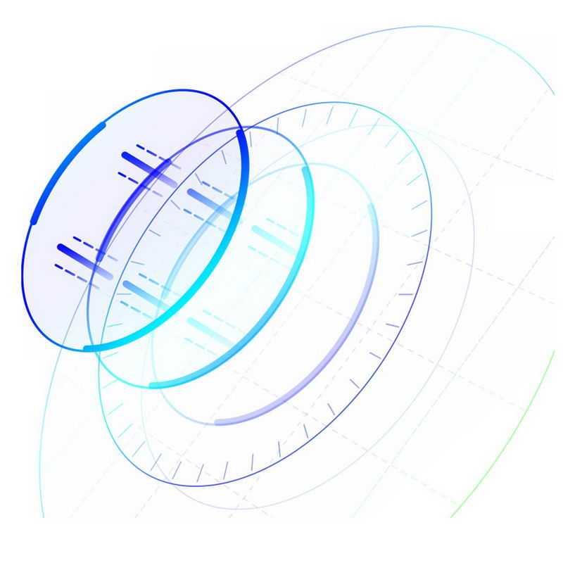 彩色圆环组成的科技风格装饰2558896免抠图片素材