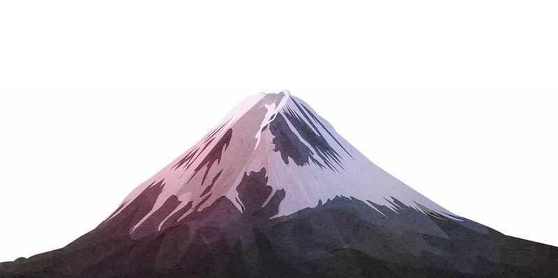 山顶有积雪的高山雪山火山富士山4334055免抠图片素材