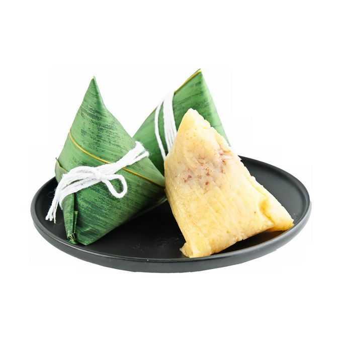 盘子中的两个红豆粽子传统端午节美味美食9745282png免抠图片素材
