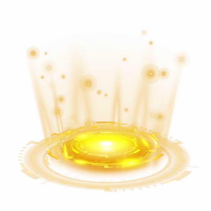 炫酷的黄色发光效果科幻风格光芒照射效果3749316矢量图片免抠素材免费下载