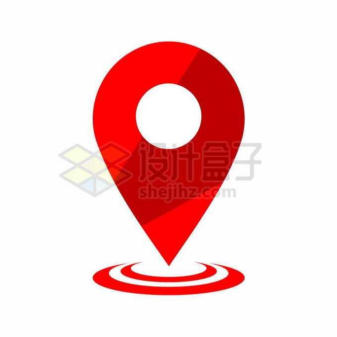红色的地图定位标志8529276矢量图片免抠素材