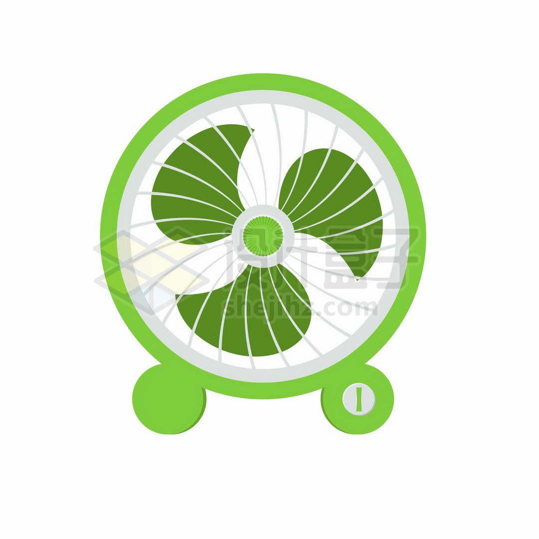 绿色的卡通小电风扇5647950矢量图片免抠素材