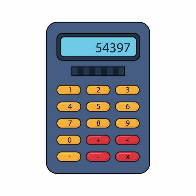 一款卡通风格计算器3866523矢量图片免抠素材