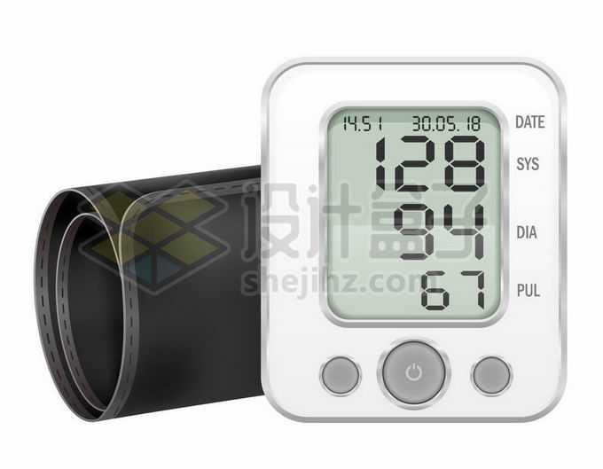 一款简洁风格的电子血压计医疗器械4554242矢量图片免抠素材免费下载