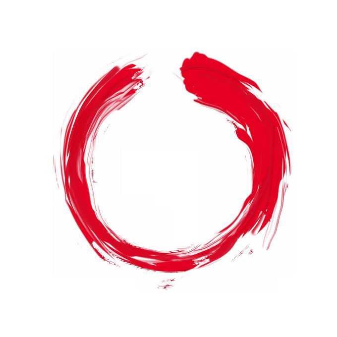 红色油漆颜料涂鸦风格圆环装饰6903985免抠图片素材