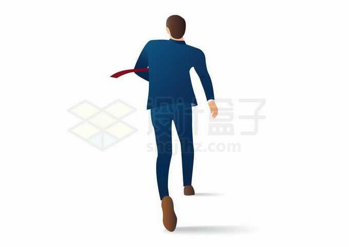 正在奔跑中的商务人士西装男背影4539426矢量图片免抠素材免费下载